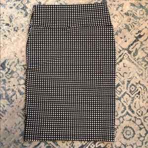 LuLaRoe Cassie Pencil skirt black white size small